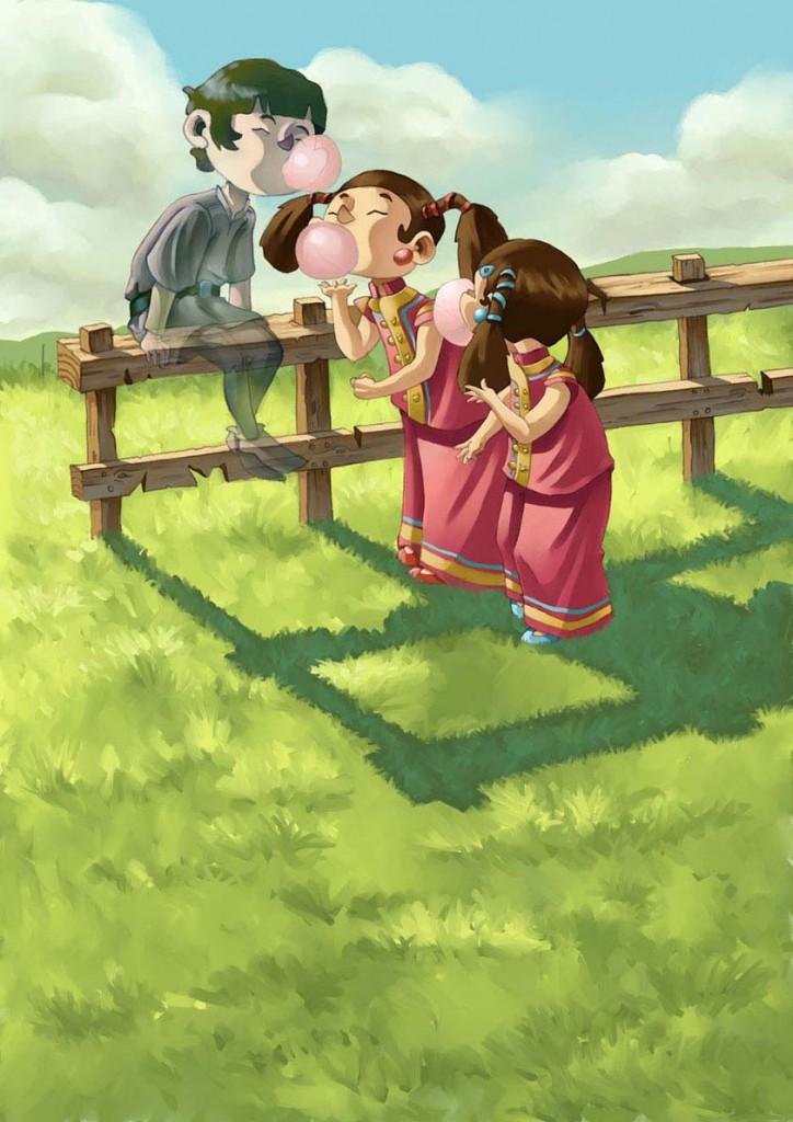 nenes  y chicles